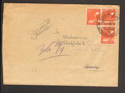 Alli.Bes.3 X 8 Pfg.Arbeiter Mit Sonderstempel Kleve 1948 A.Fernbrief, Brief Ging Zurück - American,British And Russian Zone