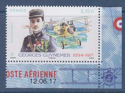 = Coin Daté 12.06.17 De Feuillet Georges Guynemer Et Son Biplan 5.10€ X1 N°PA81a - Coins Datés