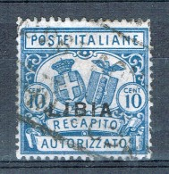 Itaienisch-Libyen Recapito Autorizzato 1929 Sassone N° 2 Gestempelt - Libya