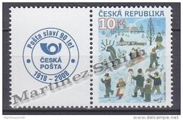 Czech Republic - Tcheque 2008 Yvert 522, Definitive, Childrens On Snow - MNH - República Checa