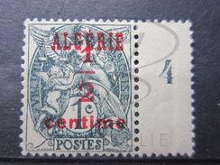 """VEND TIMBRE D ' ALGERIE N° 1 , """" 1 """" TOUCHANT LE """" E """" , NEUF AVEC CHARNIERE !!! - Algerije (1924-1962)"""