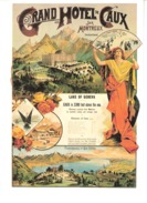 Switzerland-Schweiz-Suisse-Grand Hotel De Caux Sur Montreux (Vaud)-Reproduction Affiche De 1890-verlag Biregg AG, Luzern - VD Vaud