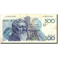 Belgique, 500 Francs, Undated (1980-81), KM:141a, TB+ - [ 2] 1831-... : Reino De Bélgica