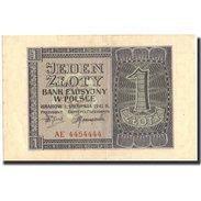 Pologne, 1 Zloty, 1941, 1941-08-01, KM:99, SUP - Pologne
