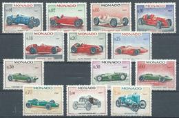 Monaco YT N°708/721 (sauf 716) Grand Prix Automobile De Monaco Neuf ** - Unused Stamps