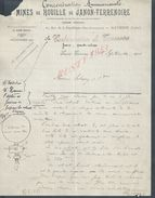 LETTRE COMMERCIALE DE 1910 DE MINES DE HOUILLE DE JANON TERRENOIRE SAINT ETIENNE : - 1800 – 1899