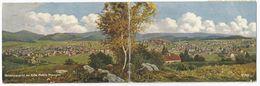 Gesamtansicht Von Zella-Mehlis (Thüringen). Doppeltbreite Ansichtskarte Aus 1921, Ausgabe WIRO Künstler-Karten. - Zella-Mehlis