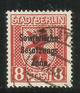 """Sowjetische Zone 202Aux PF 3AII """"8 Pfg.Briefm.gezähnt, Gestrichenes Papier, Glatter Gummi"""" Gst Mi.:20,00 - Zone Soviétique"""