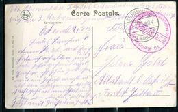 """CPA S/w AK Belgien Ostende 1915 Feldpost M.militärischen Briefstempel""""10.Kompanie-2.Matrosen Regiment""""1AK Used, - Occupation 1914-18"""