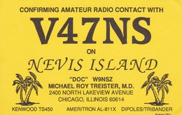 V47NS CHICAGO USA/EEUU - CIRCA 1990 - QSL CARD - RADIOAFICIONADOS/RADIO HAM - BLEUP - Radio Amateur