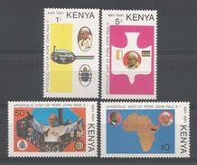 Kenya 1980 Visit Of Pope John Paul II Y.T. 163/166 ** - Kenya (1963-...)