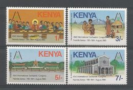 Kenya 1985 43rd Inr. Eucharistic Congress Nairobi Y.T. 339/342 ** - Kenya (1963-...)