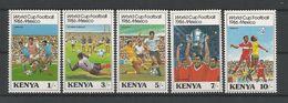 Kenya 1986 FIFA World Cup Y.T. 360/364 ** - Kenya (1963-...)
