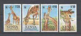 Kenya 1989 WWF Reticulated Giraffe Y.T. 474/477 ** - Kenya (1963-...)