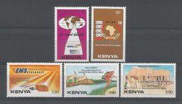 Kenya 1990 10th Anniv. U.P.A.P. Y.T. 492/496 ** - Kenya (1963-...)