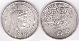 ITALIE : 1000 LIRE 1970 Argent  (voir Scan) - 1 000 Lire