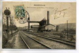 54 MAXEVILLE Voies Chemin De Fer Panneau Signalisation Hauts Fourneaux Du Pont Fleury - Vezin Aulnoye  1905   /D13-S2017 - Maxeville