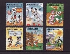 Grenada 1988 Disney Olympic Games SEOUL Mickey Cartoon Animation Sports Childhood Flags Stamps (22) MNH SG 1742-1749 - Disney