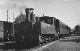 ¤¤  -  Carte-Photo D'un Train En Gare Dans La Somme  -  Locomotive , Chemin De Fer  -  ¤¤ - Matériel