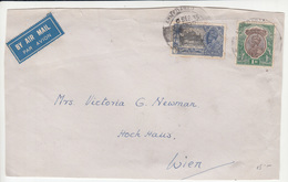 India Air Mail Letter Cover ONLY FRONT PAGE Travelled 1935 To Austria B170925 - 1911-35 Roi Georges V