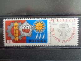 POLOGNE 1967 - Y&T N° 1624 ** -  CONGRES LABOUR - 1944-.... République
