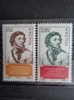 POLOGNE 1967 - Y&T N° 1649 & 1650 ** - KOSIUZKO - 1944-.... Republic