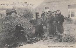 Militaria - Guerre 14-15 - Armée Belge - Ravitaillement - Franchise Militaire 1915 Secteur Postal 136 - 323ème Régiment - Guerre 1914-18