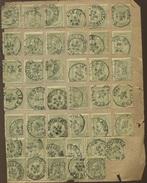 47 Ø  20c Olive  Assortiment  Collés Sur Feuille Pelure - 1884-1891 Leopold II