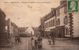 56 BAUD  PLace De L'Eglise  Et Rue De Pontivy - Baud