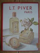 Originale Ancienne  Plaque Publicitaire En Carton L.T. PIVER Paris - Poudre Et Lotion POMPEIA - 21 X 27,5 Cm - Plaques En Carton