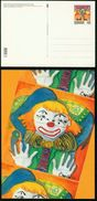 GA Dänemark Ganzsache 2002 - Postkarte MiNr P 323 Motiv 04 - Mint - Zirkus Clown - Interi Postali