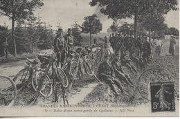 Halte D Une Avant Garde De Cyclistes  Reproduction - Manovre