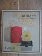 Très Belle Impression Lithographique Sur Tôle Du Parfum KOBAKO De BOURJOIS (années 30) - 22 X 24 Cm - Advertising (Porcelain) Signs