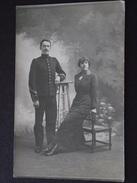 98e REGIMENT D'INFANTERIE - OFFICIER Et SON EPOUSE - Guerre 1914-18 - Carte-photo - WW1 - Non Voyagée - A Voir - Casernas