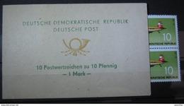 1972, DDR GDR Sondermarkenheftchen Mit Mi. 1750 (Z-37), SMHD 1c, ** MNH, Value 200,- - [6] République Démocratique