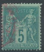 Lot N°37585  N°75, Oblit Cachet à Date ROUGE - 1876-1898 Sage (Type II)
