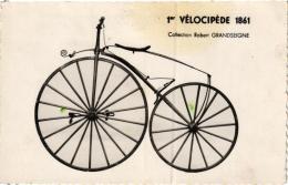 1ER VELOCIPEDE 1861 COLLECTION ROBERT GRANDSEIGNE  REF 53682 - Cartoline