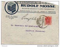 25803. Carta BARCELONA 1926 Sobre Publicitario Editorial Y Libros RUDOLF MOSSE - Cartas