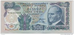TURKEY P. 190 500 L 1970 AUNC - Turchia
