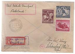 1945 Groningen Holland Registered Cover To Germany Dienstpost - Netherlands