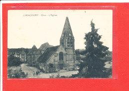 60 LIANCOURT Cpa Petite Animation L ' Eglise                Edit Vandenhove - Liancourt