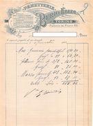 """06616 """"PANIFICAZIONE - EREDI BURIO - TORINO"""" DOCUMENTO SU CARTA INTESTATA ORIGINALE - 1903 - Italia"""