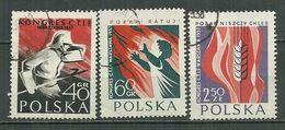 POLAND Oblitéré 909-911 Congrès International De Lutte Contre Le Feu Pompier - Oblitérés