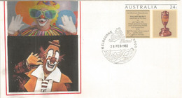 Moomba Festival, Melbourne (Australia's Largest Free Community Festival), Clowns. Postal Stationery Australia - Carnival