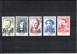 FRANCE   1958  CELEBRITES  1166 A 1171   OBLITERES CHOISIS - Oblitérés
