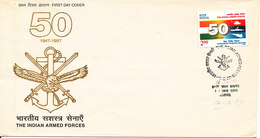 India FDC Indore 16-12-1997 The Indian Armed Forces With Cachet - FDC