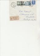 LETTRE AFFRANCHIE N°1011 B - 1038 - 1118 - OBLITERE  CAD NEUF BRISACH - HT RHIN - ANNEE 1957 - Marcophilie (Lettres)