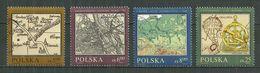 POLAND Oblitéré 2657-2660 Cartographie Plan De Varsovie Pologne Carte De Cracovie - 1944-.... République