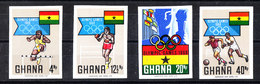 Ghana -   1969.  Calcio, Atletica, Boxe. Soccer, Atlhetic. Complete MNH Imperf. Series - Sommer 1968: Mexico