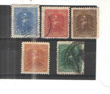 El Salvador 1893 Pres.Ezeta Scott.76/77/79/80/82/ N.5 Valori  Usati/Nuovi See Scans - El Salvador
